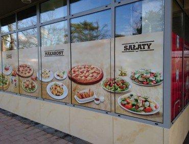 Oklejanie witryn sklepowych Warszawa
